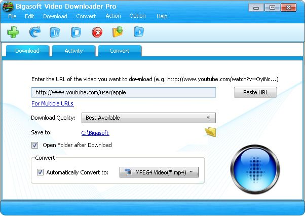 Bigasoft Video Downloader Pro v3.3.0.5246